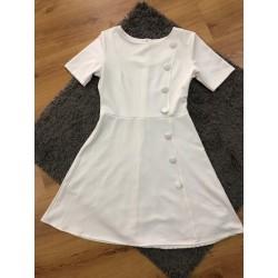 Vestido blanco botón